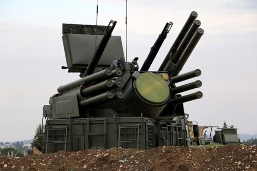 Hệ thống phòng không Pantsir-S1 tại căn cứ Nga thiết lập ở Latakia, Syria. Ảnh: AFP.