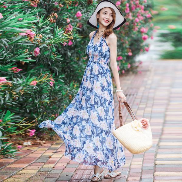 Váy maxi đi biển mùa hè 2017