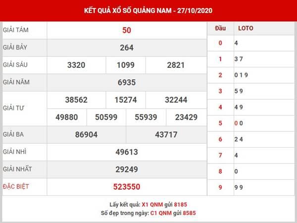 Soi cầu số đẹp xổ số Quảng Nam thứ 3 ngày 3-11-2020